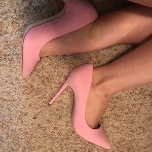 ASOS Pink Paris Wide Fit Pointed High Heels